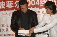 组图:大卫-科波菲尔亮相北京为魔术之旅造势