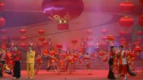 资料图片:山西民歌大型歌会--大红灯笼