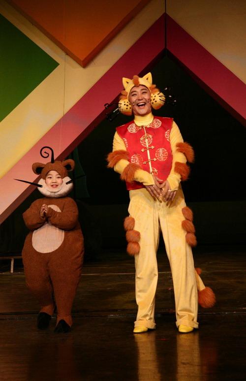 """资料图片:""""梦想乐园""""彩排-大脸猫和小猪熊"""