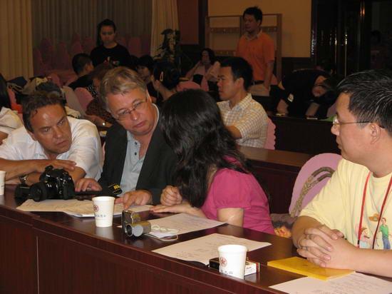 图文:投资家巴赫、ELMAR与文硕在嘉宾席上