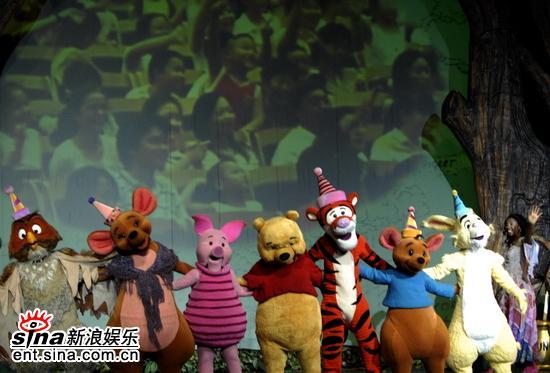 图文:《小熊维尼》首演-背景版上看到自己笑
