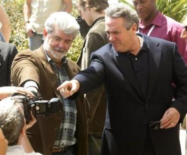图文:《星战前传3》亮相戛纳-卢卡斯和影片监制