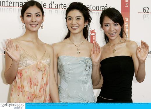 图文:徐克率《七剑》亮相威尼斯--三位女主演