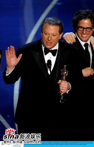 详讯:最佳纪录片《难以忽视的真相》戈尔发言