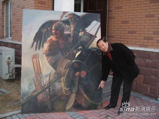 资料图片:王可伟画作《汉土》