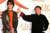 组图:周星驰和《功夫》主要演员亮相台北
