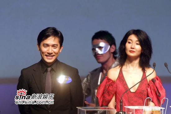 图文:香港影视娱乐博览开幕-梁朝伟、张曼玉2