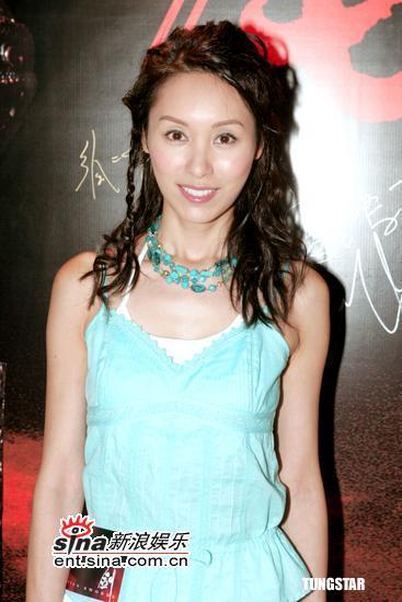 组图:《七剑》香港首映张静初着低胸装出席