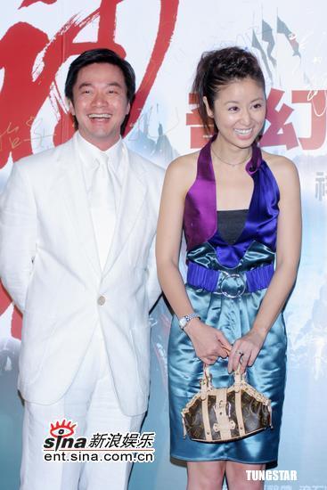 组图:《神话》台湾首映林心如迟到惹烦唐季礼
