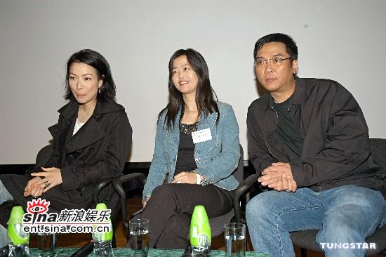 组图:郑秀文关锦鹏出席电影《长恨歌》座谈会