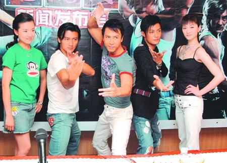 《龙虎门》广州发布会谢霆锋余文乐缓和气氛