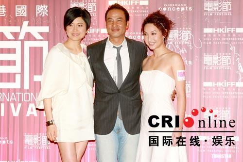 香港电影节开幕式任达华左拥右抱风光亮相(图)