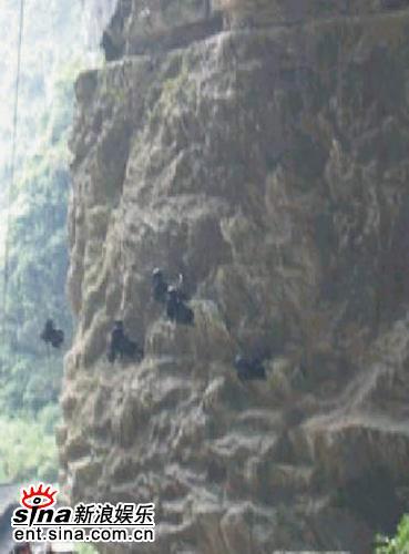 组图:《黄金甲》特技炫目黑衣武士飞檐走壁