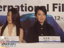 组图:《父子》釜山记者会郭富城最爱杨采妮