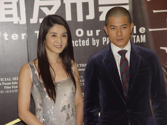 组图:郭富城杨采妮上海盛装亮相宣传《父子》