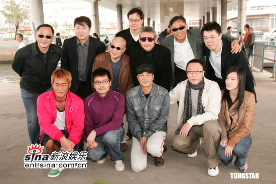 组图:杜琪峰徐克古天乐林熙蕾宣传《铁三角》