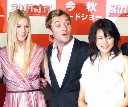 图文:东京电影节第5天裘德洛、帕特洛亮相