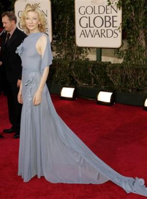 图文:凯特-布兰切特蓝色晚装高贵不流俗