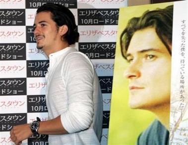 组图:奥兰多-布鲁姆东京宣传《伊丽莎白镇》