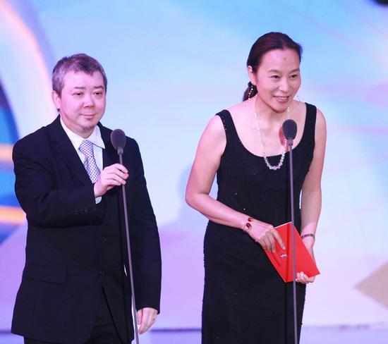 图文:金鸡百花电影节颁奖典礼-文隽和奚美娟