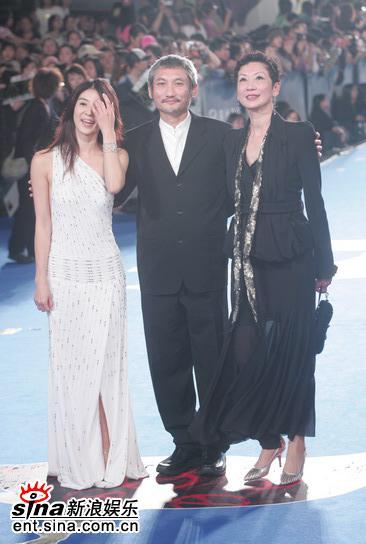 图文:金马奖红地毯--杨采妮和徐客到场