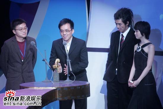 图文:台湾电影金马奖颁奖典礼--陈柏霖吐石头