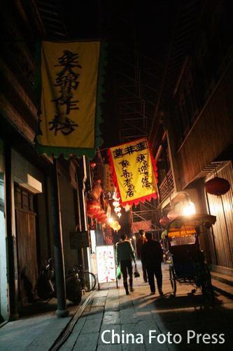 图文:《碟中谍3》西塘场景曝光--夜间小巷