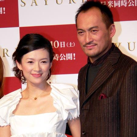 图文:《艺伎》东京首映--章子怡和渡边谦