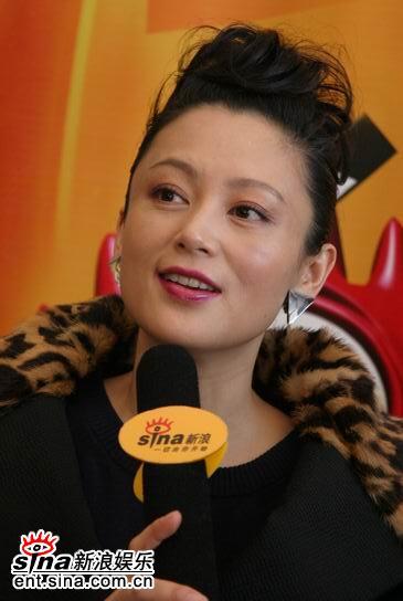图文:陈红做客新浪聊《无极》-时尚妆美丽动人