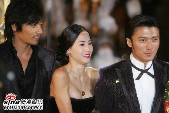 图文:《无极》全球首映-张东健张柏芝谢霆锋