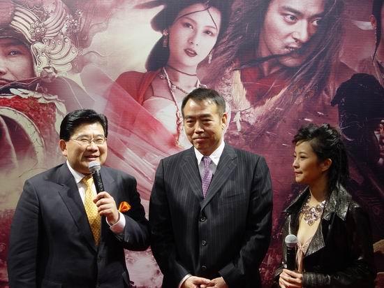 图文:《无极》上海首映-曹可凡采访导演陈凯歌