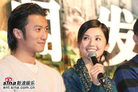 图文:《情癫大圣》发布会--谢霆锋和蔡卓妍