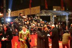 组图:柏林电影节雪中开幕李英爱着韩服亮相