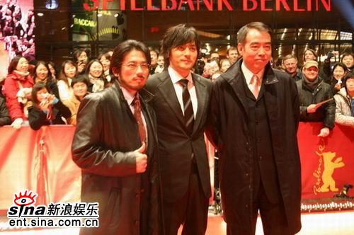 图文:《无极》欧洲首映礼举行--主创三人合影