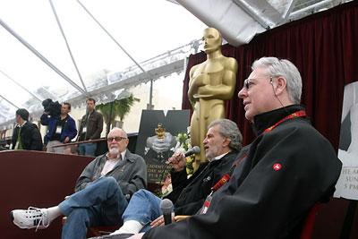 奥斯卡颁奖典礼幕后三巨头与媒体作交流
