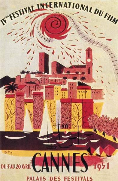 图文:历届戛纳电影节海报-1952年第六届海报