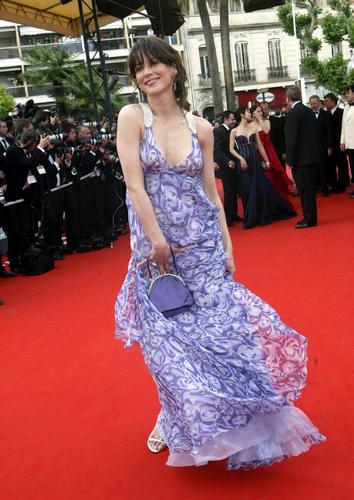 图文:《查理的意见》首映-苏菲・玛索着紫色纱裙