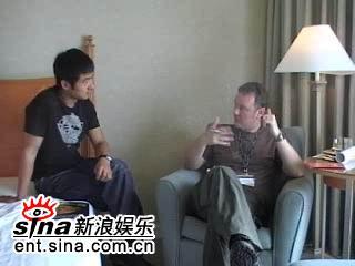 图文:郭晓冬釜山接受媒体采访-采访在酒店进行