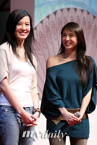 图文:《父子》亮相釜山--杨采妮和林熙蕾