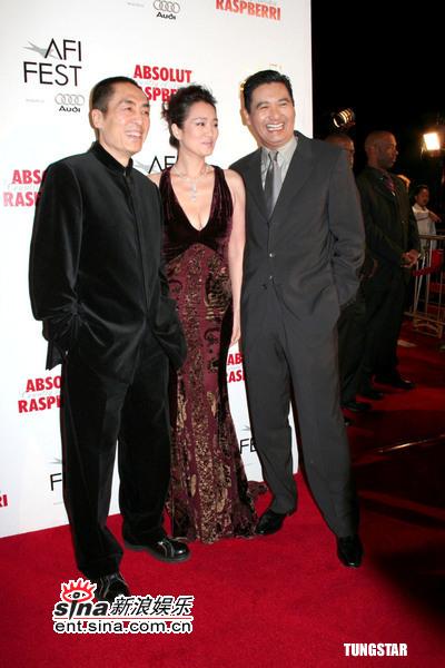 图文:《黄金甲》美国首映张艺谋、巩俐、周润发