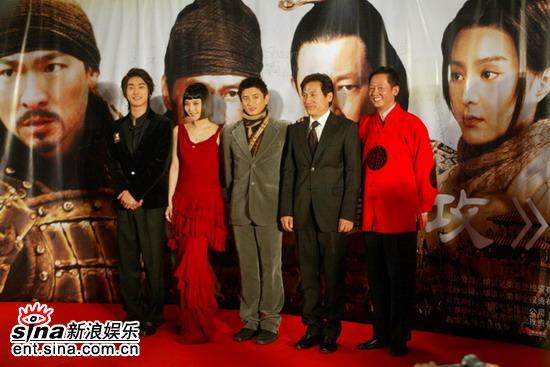 图文:《墨攻》北京首映礼红地毯上群星璀璨
