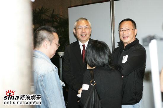 图文:《父子》香港庆功会--谭家明与杜琪峰