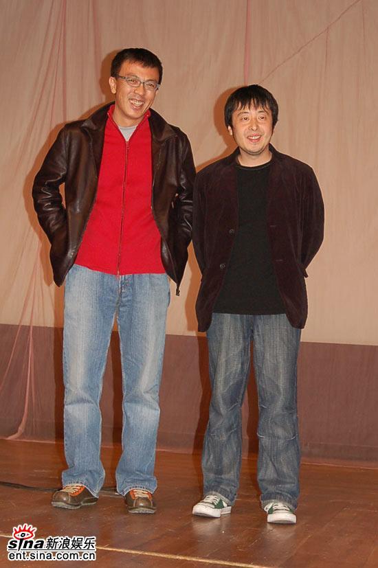 图文:《三峡好人》北大点映--刘小东和贾樟柯
