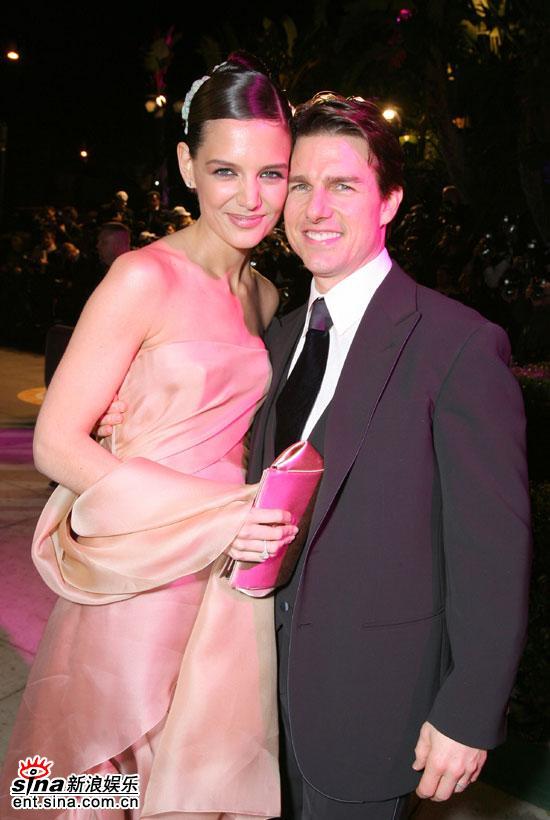 汤姆·克鲁斯老婆_图文奥斯卡派对汤姆克鲁斯和妻子凯蒂秀恩爱