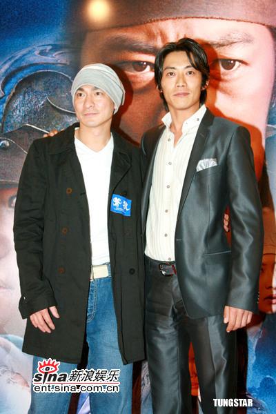 图文:《苍狼》香港首映--两位型男