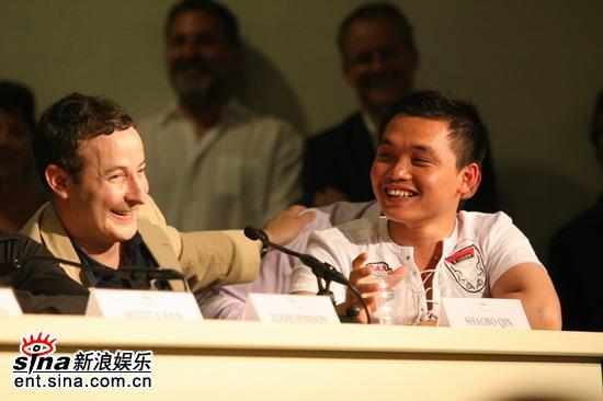 图文:《十三罗汉》发布会--华人演员秦少泊