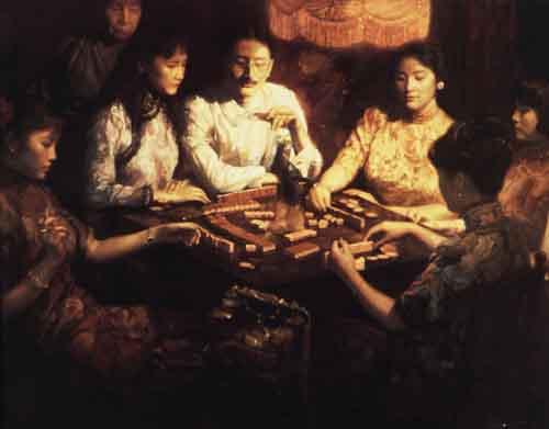 资料图片:陈逸飞绘画作品--上海旧梦之黄金岁月
