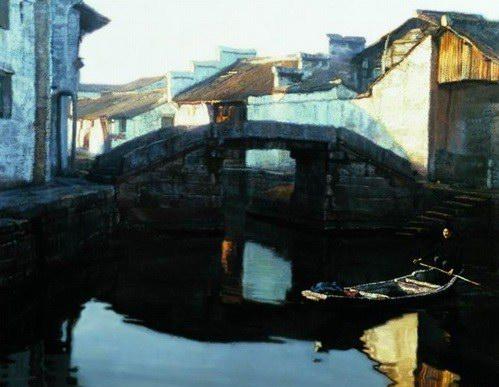 资料图片:陈逸飞绘画作品--桥