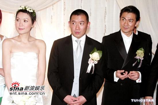 图文:杜汶泽与田蕊妮大婚幸福甜蜜羡煞旁人(12)