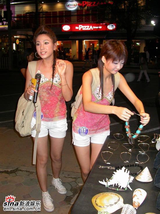 图文:星姐邓璐泰国性感可爱拍摄当地开心购物